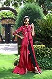 B-Lotus Designers Women Red New Dress Bollywood Designer Long Anarkali Kurti Type Suit All Size