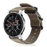 FINTIE Cinturino per Galaxy Watch 46mm/Gear S3 Classic/Gear S3 Frontier/Huawei Watch GT Sport, 22 mm Morbido Tessuto di Nylon Sports Watch Band Regolabile con Fibbia Acciaio Inox, Desert Tan