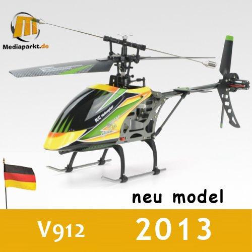 WLtoys V912 4-Kanal Große V911 Single-Rotor 2.4 GHz RTF RC Hubschrauber mit Gyro Mode 2 (Rc Hubschrauber 4-kanal)
