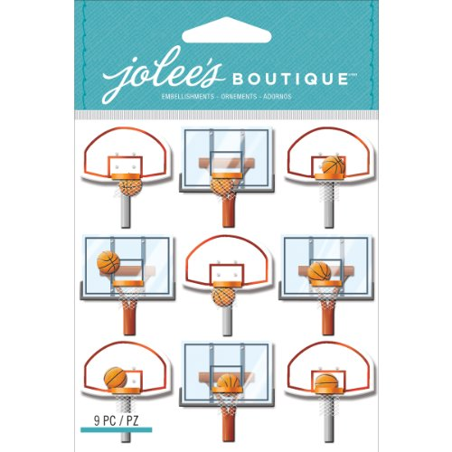 Jolee's Boutique Dimensional Sticker Basketball Backboard Repeats -