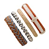 Bracelets Bracelet Bijoux Chaîne de Main Bracelet tissé à la Main Bijoux Cuir Cuir...