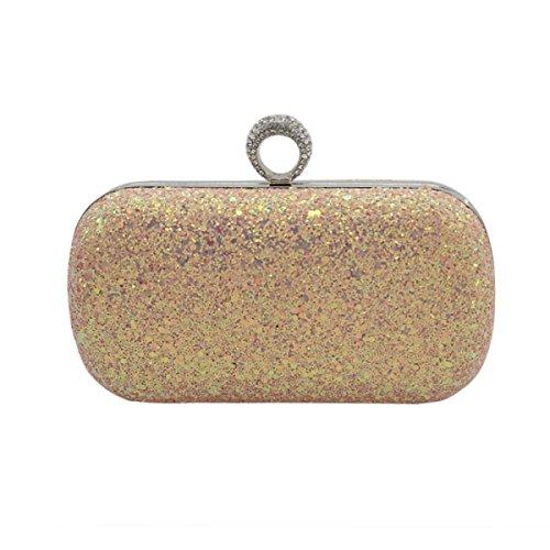 GSHGA Clutch Bag Abend Frauen Schultertasche Handtasche Handtasche Für Party Hochzeit Clubs,C (Bronze-abend Handtasche)