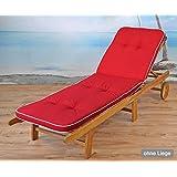 /52/sans Chaise Longue sun garden 2/Lits auflagen en Noir 189/x 60/x 6/cm tomiro Swarovski/