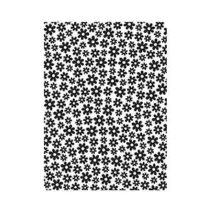 transparent 10.8 x 14.6 x 0.3 cm Skript-Hintergrund Plastic Schablone Darice Pr/ägefolder