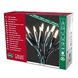 Konstsmide 6304-100 LED Minilichterkette / für Innen (IP20) 230V Innen / 100 warme weiße Dioden / grünes Kabel