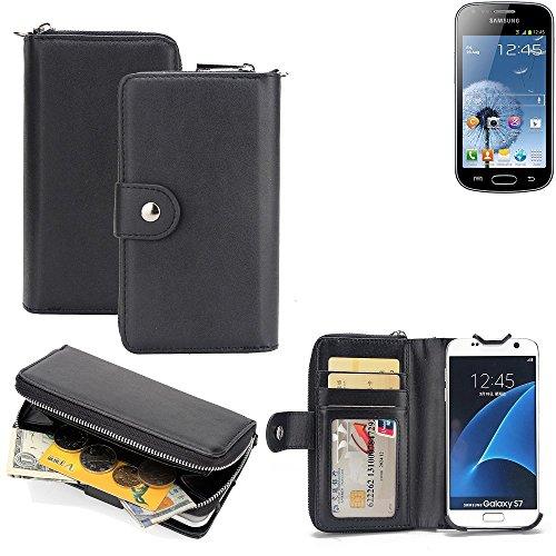 K-S-Trade 2in1 Handyhülle für Xiaomi Tech Mi 4i hochwertige Schutzhülle & Portemonnee Tasche Handytasche Etui Geldbörse Wallet Case Hülle schwarz