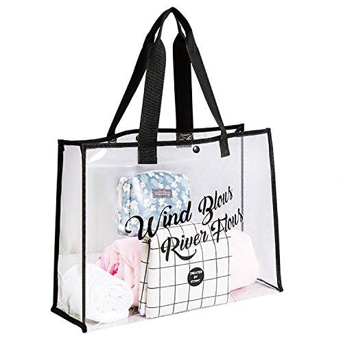 JIAHG Damen transparente Umhängetasche Schultertasche PVC Sommer Tragetasche Reisetasche Schwimmtasche für Strand, Schwimmen, Reise, Einkaufen