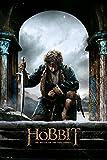 The Hobbit - BOTFA Bilbo - Schlacht der 5 Heere Plakat Poster Druck - Größe 61x91,5 cm + 2 St Posterleisten Holz 61 cm