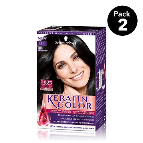 Keratin Color Schwarzkopf - Tono 1.0 Negro - 2 uds