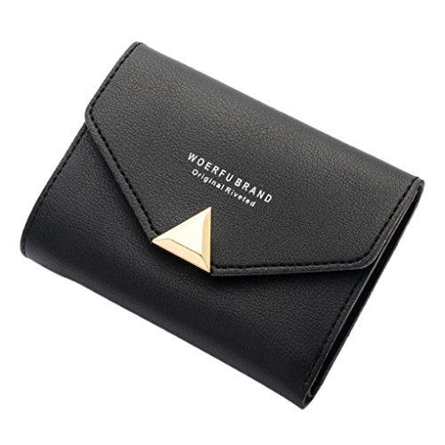 Portafoglio Donna, Tpulling Borsa della borsa della borsa della borsa della signora della borsa della frizione della borsa della lettera della frizione della lettera delle donne (Black) Black