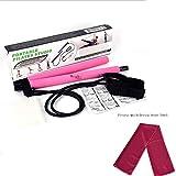 PEIN Kit per Barra di Pilates/Canna da Fitness Portatile Pilates Bar/Tovagliolo di Fitness di Yoga/Esercizio Domestico per Uomo Donna Bambino Anziano,D-Pink Pilates Stick