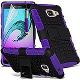 Gadget Giant® Pourpre/Purple - Samsung Galaxy A5 2016 (A510) Étui carapace antichoc résistant double épaisseur de très bonne qualité avec protection d'écran et stylet (Antichoc - Couverture - Rigide - Carapace - Robuste)
