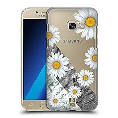 Idea Regalo - Head Case Designs Margherite Marmo E Fiori Cover Retro Rigida per Samsung Galaxy A3 (2017)