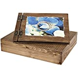25madera álbum de fotos y estuche de madera en la misma estructura