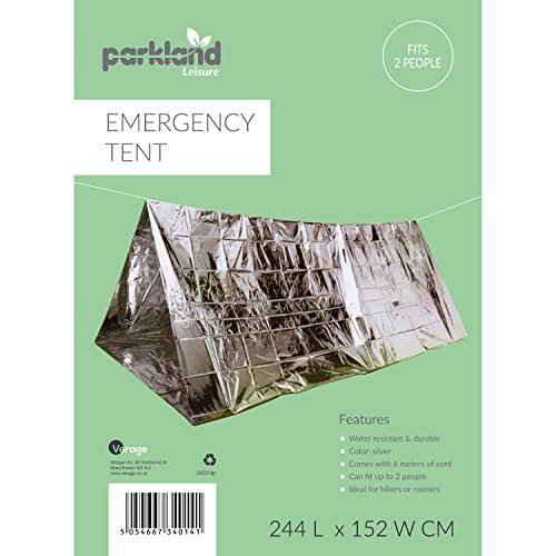 51FLKvT1ESL. SS500  - Parkland® Emergency Foil Tent 2 Person Tube Survival Camping Shelter Emergencies Sporting Outdoor New