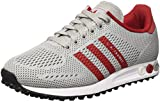 adidas Herren LA Trainer EM Low-Top, Grau (Clear Onix/Power Red/FTWR White), 47 1/3 EU