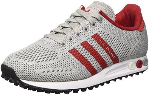 adidas Herren LA Trainer EM Low-Top Grau (Clear Onix/Power Red/FTWR White) 45 1/3 EU -