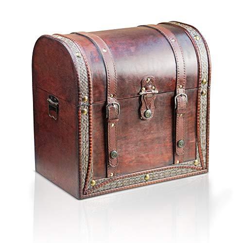 Brynnberg Caja de Madera Corinna 38x25x37cm - Cofre del Tesoro Pirata