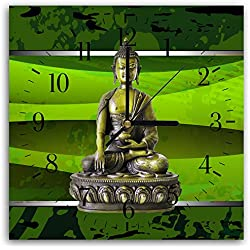 Reloj De Pared Decoracion Nostalgico Buda Acrylglas Non-Ironing Clocks