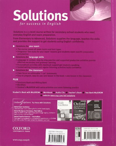 Solutions. Intermediate. Student's book. Con espansione online. Per le Scuole superiori. Con Multi-ROM