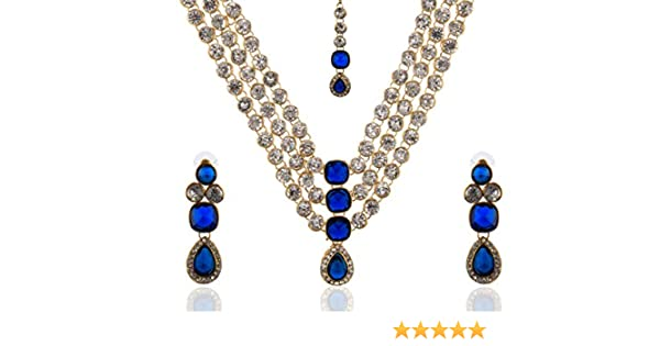 906d9f4c543e4 moKanc Famous Crystal Jewelry Set Just Like Diamonds Ideal for Wedding  Parties for Women and Girls
