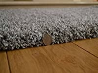 Shaggy Thick Modern Luxurious Silver Grey Rug High Pile Long Pile Soft Pile Anti Shedding Available in 9 Sizes by SuperRugStore