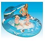 Kinder Schwimmbad Planschbecken Sprühender Wal Pool Wasserbecken 208x157x99
