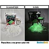 BucketBolt DIY Series Glow in Dark Snow Powder for Kids, Above 4 Years (Aqua Blue and Sea Green)