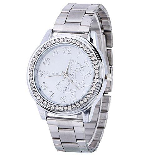 IG-Invictus Diamant Edelstahl Sport Quarz Armbanduhr Zifferblatt Uhr SL KANIMA Digital Gebohrt Stahlband Uhr Silber