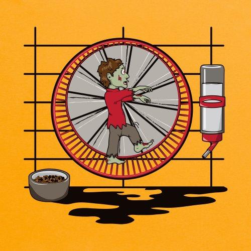 Hamster Zombie T-Shirt, Herren Gelb