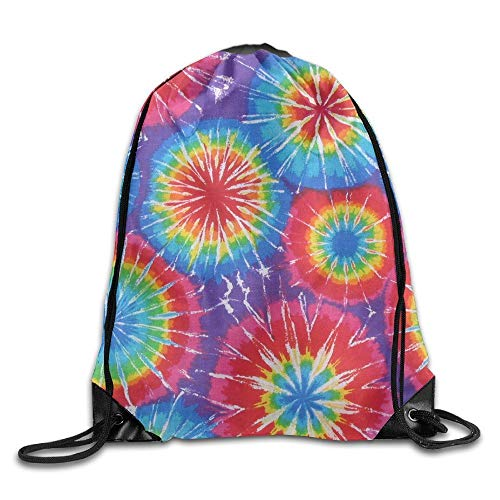 ewtretr Turnbeutel, Tiedye Trippy Lemon Sport Bag Drawstring Backpack (Michaels Tie Dye)
