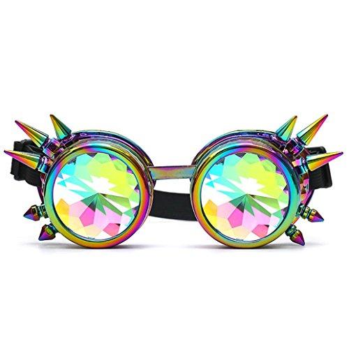 Fashion Sonnenbrille, morwind Kaleidoskop bunt Gläser Party Rave Festival Party EDM Sonnenbrille diffracted Objektiv, damen, mehrfarbig (Foster Sonnenbrille Aviator Grant)
