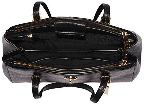 Schultertaschen 29 Li Schwarz Coach Black Damen cm Carryall 20x21x12 Turnlock faxHvqZ