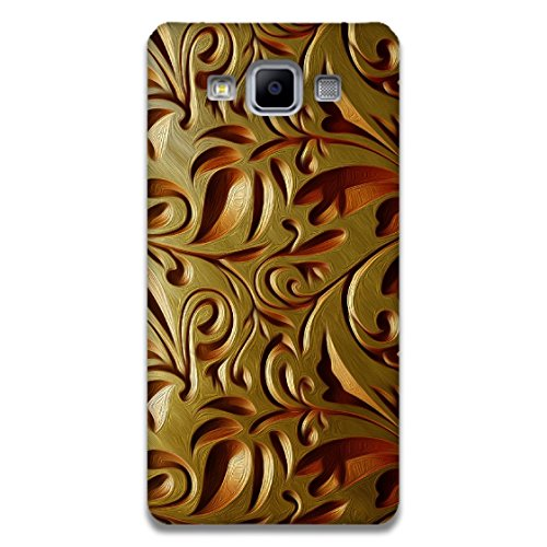 The Racoon Lean printed designer hard back mobile phone case cover for Samsung Galaxy A5. (Gold Weave)  available at amazon for Rs.99