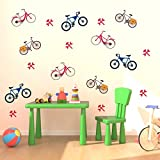 DECOR Kafe Cycles Wall Stickers Premium Quality ( 106 Cm X 80 Cm Vinyl Home Decor ) Wall Stickers S
