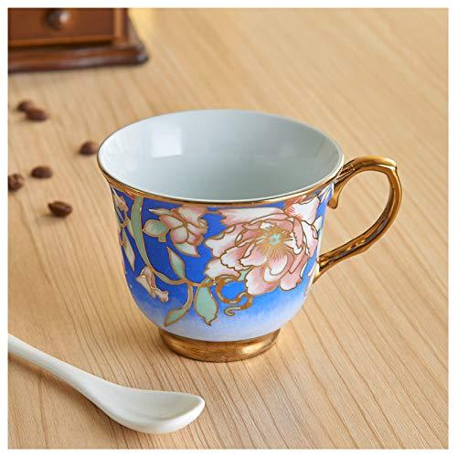 ACOOME- Set Von Teetassen Und Kaffee Mit Untertasse, Porzellan Bone China, Blaue Pfingstrose, Porzellan Pfingstrose Pfingstrose Topf Teetasse, 1 X Tasse, 1 X Untertasse - China Untertasse