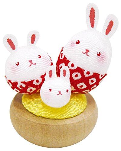 Petit culbuto Yurayura Family Rabbit - Fabriqué au Japon