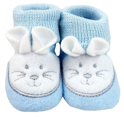 France Tendances Baby Schuhe Strickschuhe Erstlingsschuhe Mäuse das kleine Geschenk (0-3 Monate) Blau