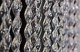 Rideau/Moustiquaire en PVC – modèle 21 - Bâtonnet D'ALUMINIUM - Made in Italy - Mesures Standard (90x200/100X220/120X230/130X240/150X250) - (120 X 230, TRASPARENT AVEC GLITTER ARGENT [8])