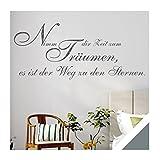 Exklusivpro Wandtattoo Wand-Spruch Nimm dir Zeit zum Träumen… mit SWAROVSKI (zit44 grau) 140cm