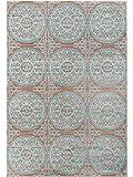 benuta Teppich Visconti Braun/Türkis 80x150 cm | Moderner Teppich für Wohn- und Schlafzimmer