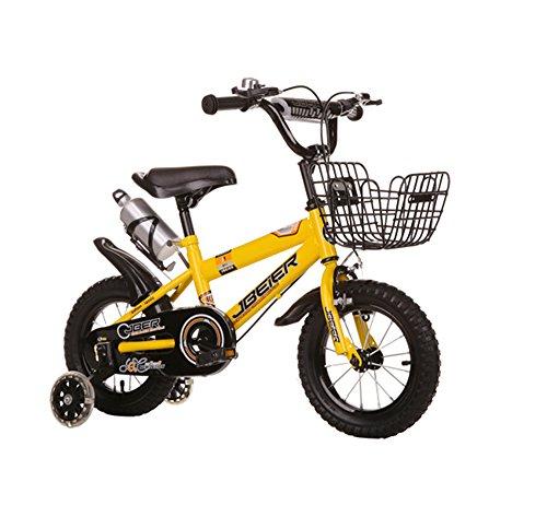 Kinderfahrräder, Kinder 4-6-8-11 Jahre alt Jungen und Mädchen 12/14/16/18 Zoll Mountainbike ( Farbe : Gelb , größe : 18 inches )
