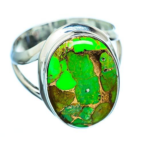 Green Copper Composite Turquoise, Grüner Kuper zusammengesetzter Türkis 925 Sterling Silber Ring 8.75 (Ana Silver Co Ringe Grün)