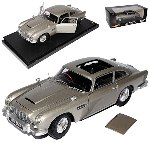 aston-martin-db5-coupe-silber-james-bond-goldfinger-1963-1965-1-18-mattel-hot-wheels-modell-auto