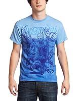 The Avengers Movie Marvel Team Ups Impakted Blue T-Shirt