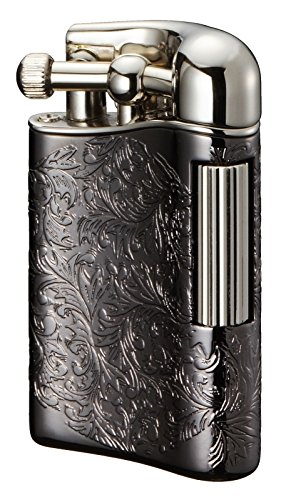 Arabesque Antike (Feuerzeug Sarome Flint für Rohr PSD 12-28, Schwarz Antik, arabesque/silber)