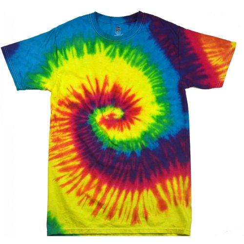 Colortone - Camiseta de manga corta psicodélica Unisex Modelo Rainbow Niños Niñas - Moda/Tendencia/ Hippie