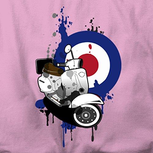 Retro Roller Moped Herren T-Shirt Black