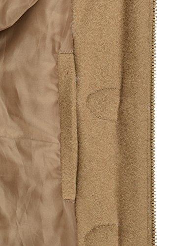 DESIRES Penna Damen Winter Jacke Parka Mantel Dufflecoat mit Stehkragen und Kapuze, Größe:S, Farbe:Sepia (5075) - 6