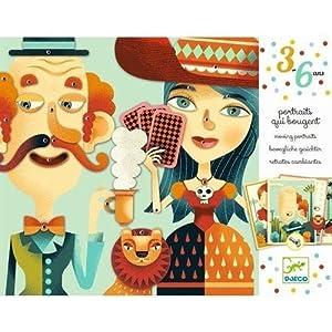 DJECO- Juegos Educativos Cuadros En Movimiento Retratos Cambiantes, Multicolor (DJ08973)